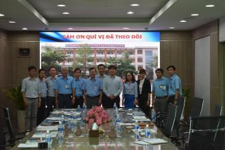 Ban Giám hiệu và cán bộ, giáo viên Trường Cao đẳng nghề Công nghệ cao Đồng Nai (DCoHT) đến thăm và làm việc tại Công ty TNHH Hyosung Đồng Nai