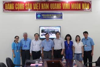 Ts. Nguyễn Hồng Minh, Tổng cục trưởng Tổng cục Giáo dục nghề nghiệp đến thăm và làm việc với Trường Cao đẳng nghề Công nghệ cao Đồng Nai.